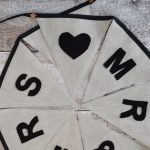 Natural Linen Wedding Bunting
